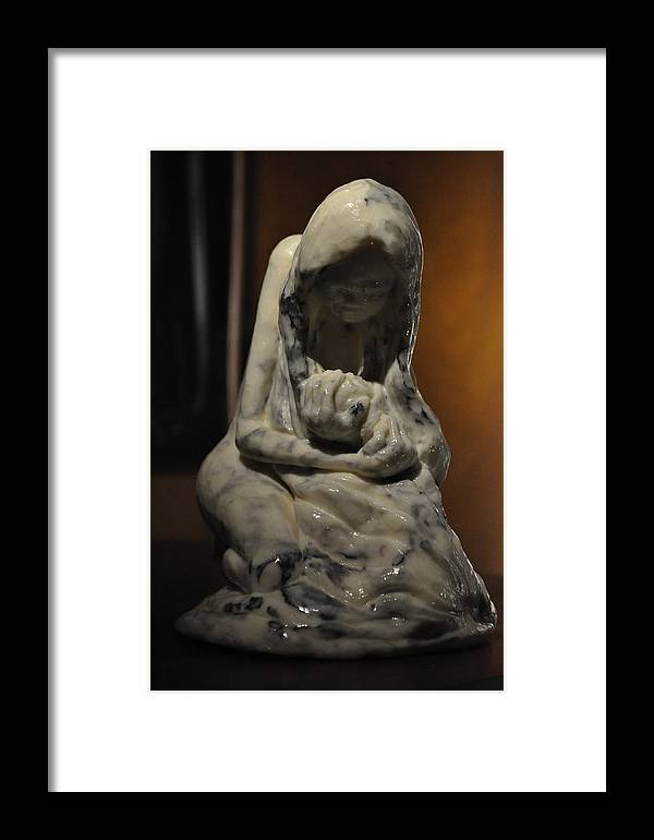 Photograph Framed Print featuring the photograph A Mothers Loss by Joseph Cusano IV