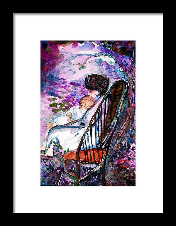 Mother Framed Print featuring the painting A Mothers Love by Mindy Newman