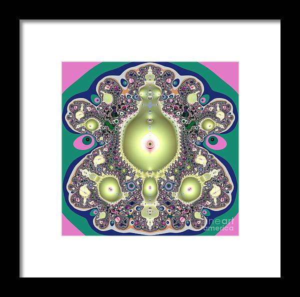 A Mothers Womb Gods Garden Of Life Framed Print featuring the digital art A Mothers Womb Gods Garden Of Life by Rose Santuci-Sofranko
