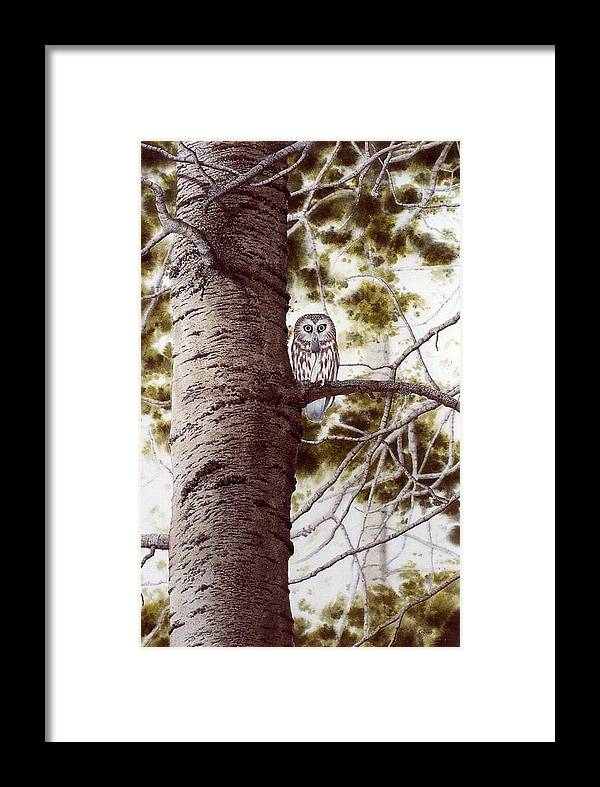 Nature Framed Print featuring the painting A Mouse For Breakfast by Conrad Mieschke