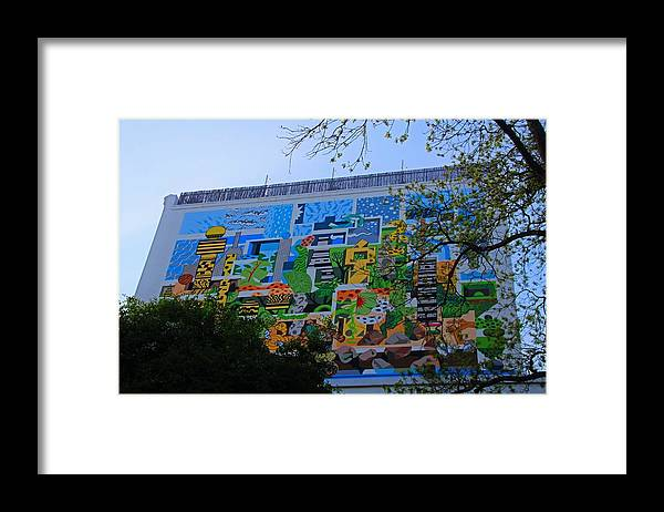 Mural Framed Print featuring the photograph A Mural On The San Antonio Riverwalk by Michiale Schneider