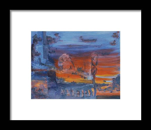 Abstract Framed Print featuring the painting A Mystery Of Gods by Steve Karol