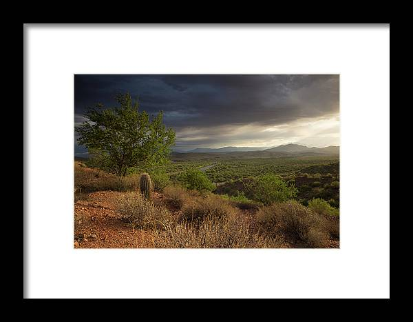 Landscape Framed Print featuring the photograph A New Beginning by Sue Cullumber