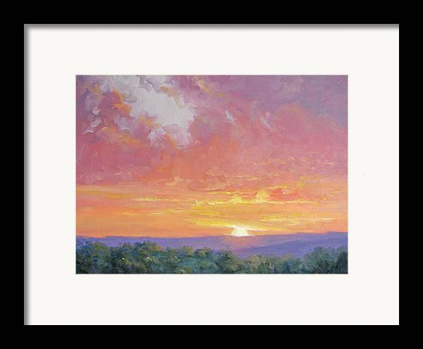 Sunrise Framed Print featuring the painting A New Dawn by Bunny Oliver