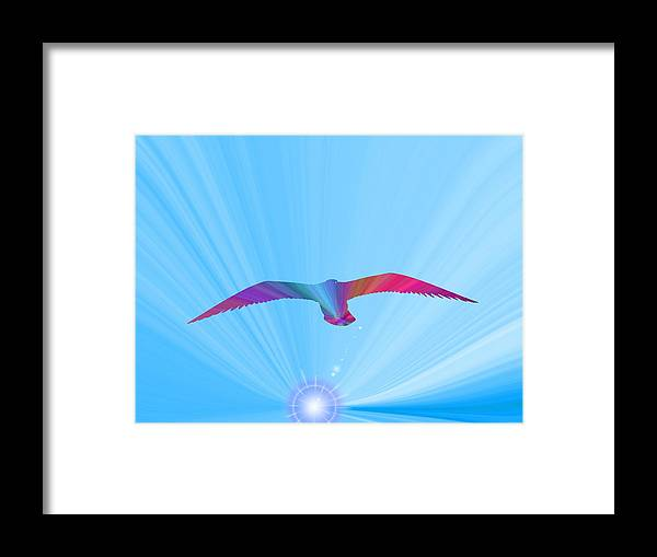 Abstract Framed Print featuring the digital art A New Day Dawning by Tim Allen