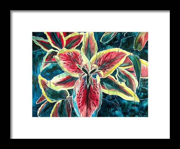 Floral Painting Framed Print featuring the painting A New Day by Jennifer McDuffie
