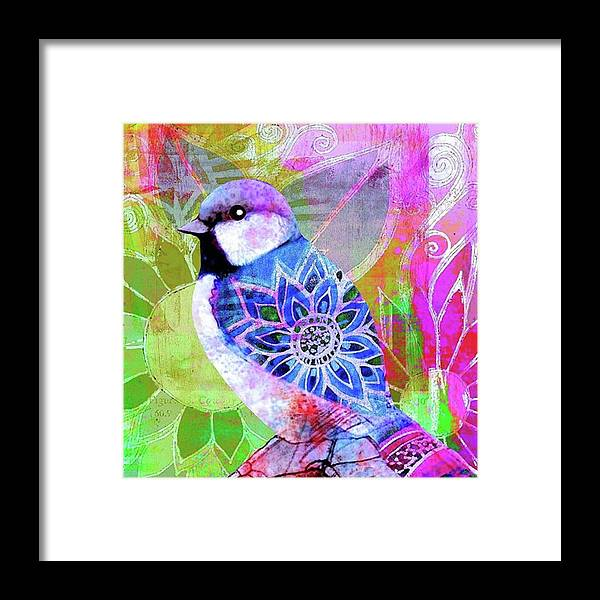 Ipad Framed Print featuring the photograph A New Little Digital Bird by Robin Mead