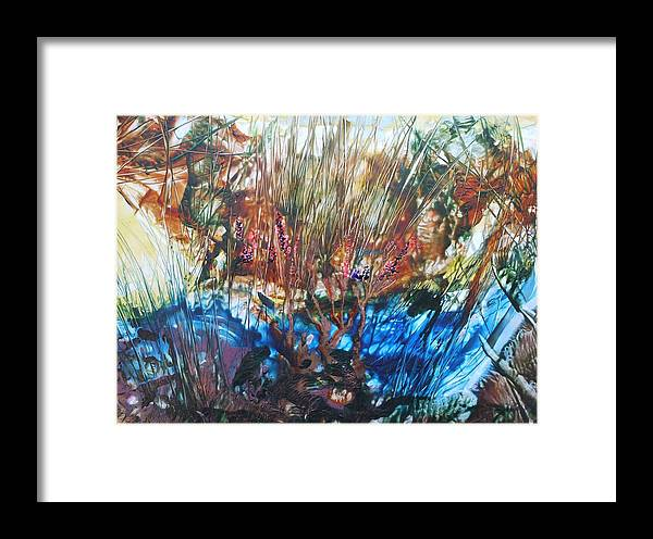 Nature Framed Print featuring the painting A New Place by Heather Hennick