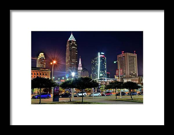 Cleveland Framed Print featuring the photograph A New View by Frozen in Time Fine Art Photography