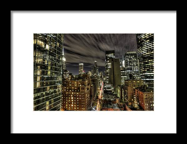 New York City Framed Print featuring the photograph A New York City Night by Shawn Everhart