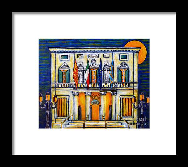 Theatre Framed Print featuring the painting A Night at the Fenice by Lisa Lorenz