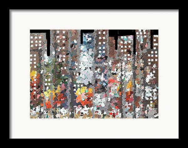 Abstract Framed Print featuring the painting A Night In Chicago by Don Phillips