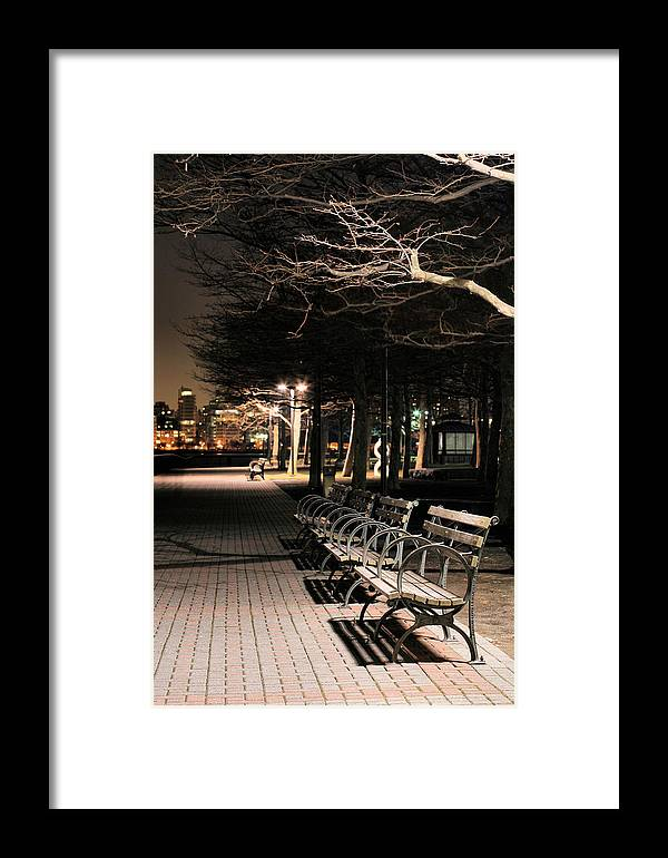 Pier A Framed Print featuring the photograph A Night In Hoboken by JC Findley