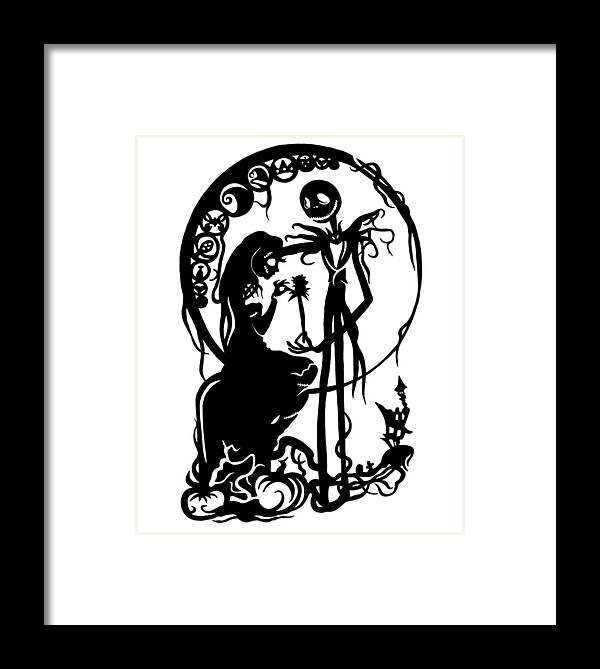 A Nightmare Before Christmas Framed Print by Ian King