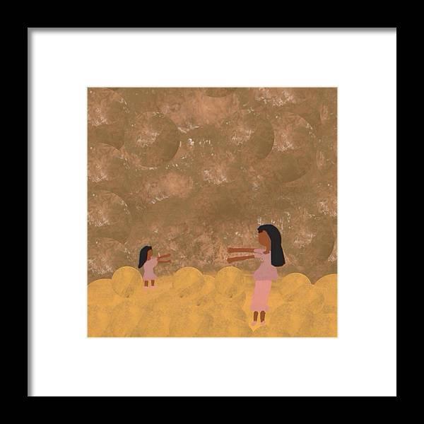 Mother Framed Print featuring the digital art A Parent And Child Reunion by Joan Ellen Gandy