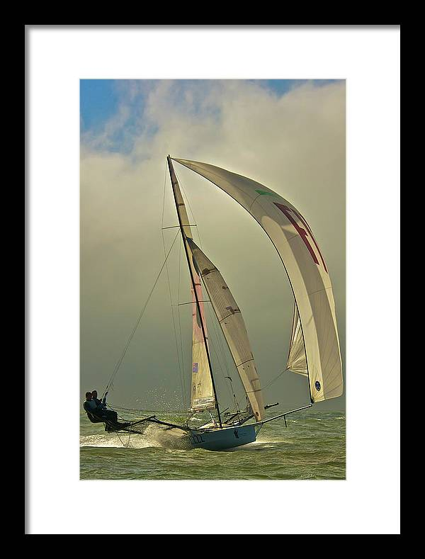 Full Framed Print featuring the photograph A Patch Of Blue by Steven Lapkin