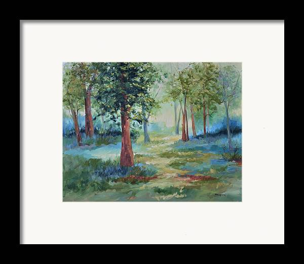 Trees Framed Print featuring the painting A Path Not Taken by Ginger Concepcion