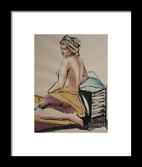 Figures Framed Print featuring the painting A Peaceful Moment by George Chacon