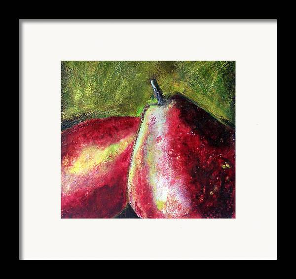 Fruit Framed Print featuring the painting A Pear by Karla Phlypo-Price