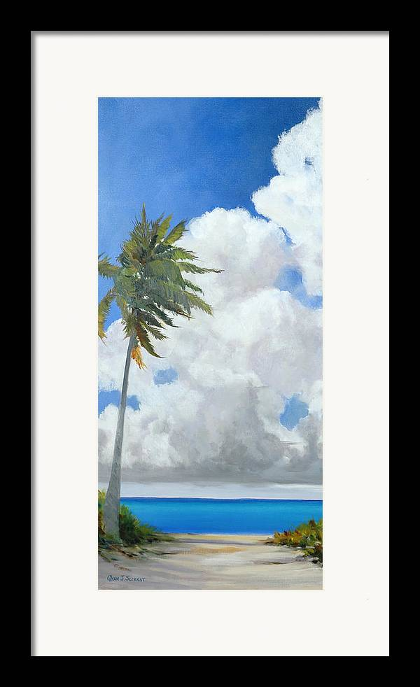 Landscape Framed Print featuring the painting A Perfect Day by Glenn Secrest