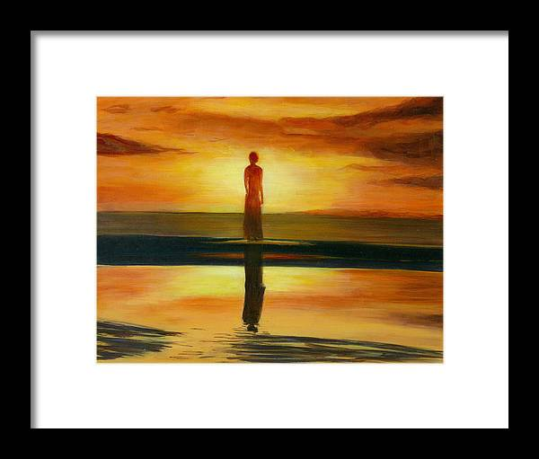Landscape Framed Print featuring the painting A Personal Journey II by Paula Emery