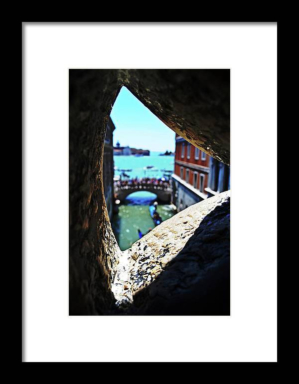 A Framed Print featuring the photograph A Piece Of Venice by HazelPhoto