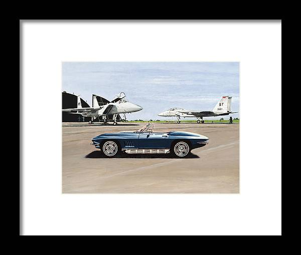 Corvette Framed Print featuring the painting A Pilots Dream by Richard Herron