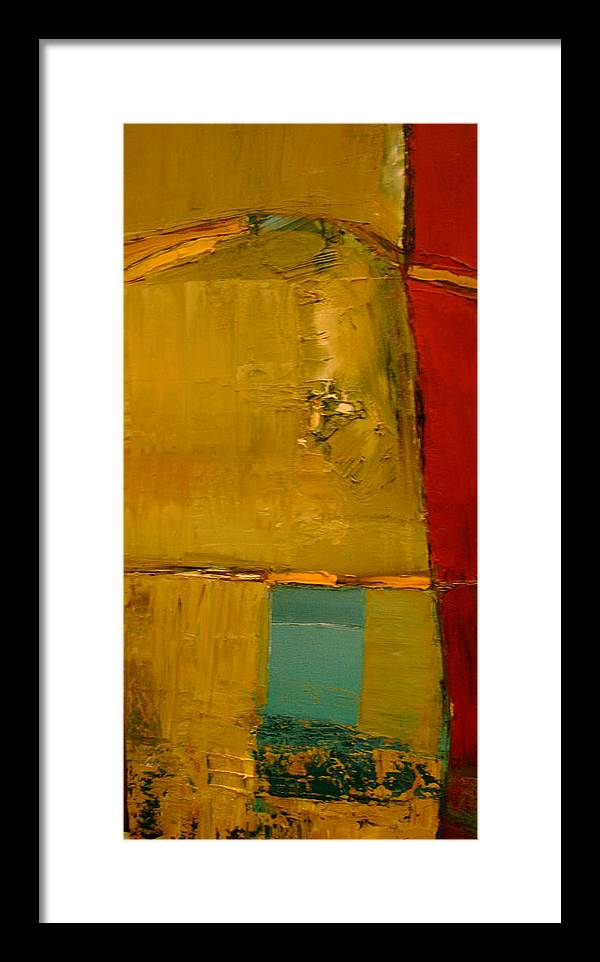 Abstract Framed Print featuring the painting A Portal To A Discovery by Stefan Fiedorowicz