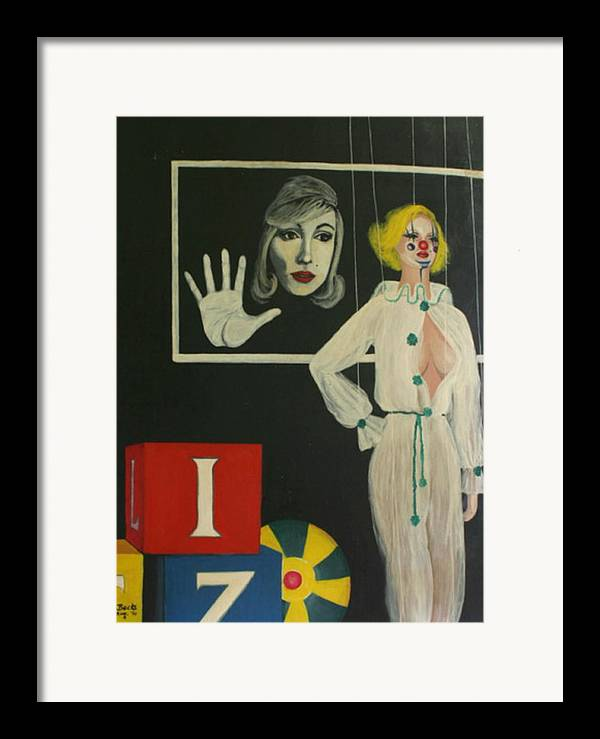 Figurative Framed Print featuring the painting A Portrait Of A Woman by Georgette Backs