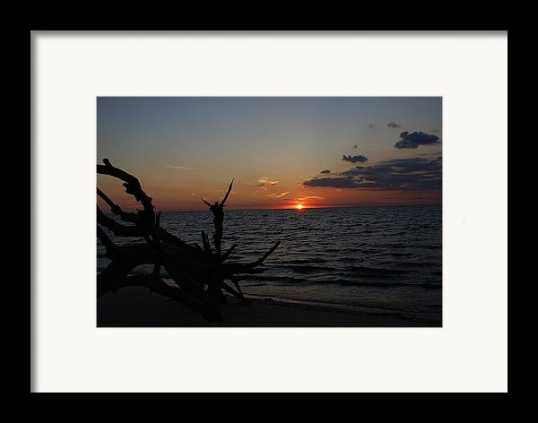 Sunset Framed Print featuring the painting A Prayer For Benazir Bhutto by Debbie May