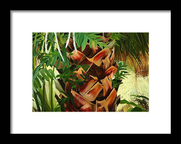 Floral Framed Print featuring the painting A Precious Life by Sunhee Kim Jung