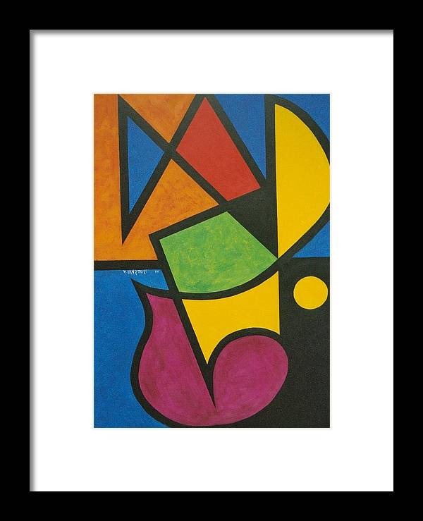 Abstract Framed Print featuring the painting A Question Of Balance by Nicholas Martori