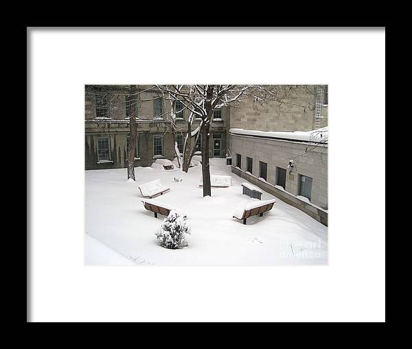 Montreal Framed Print featuring the photograph A Quiet Place by Reb Frost