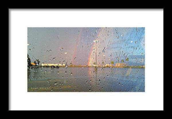 A Rainbow In My World Framed Print featuring the photograph A Rainbow In My World #3 by Kume Bryant