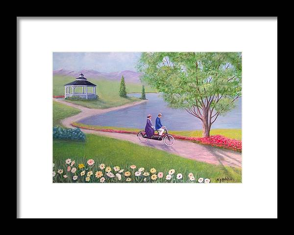 Landscape Framed Print featuring the painting A Ride In The Park by William H RaVell III
