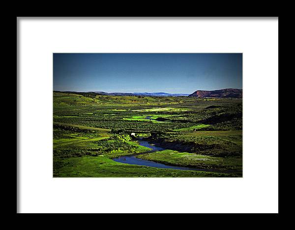 River Framed Print featuring the photograph A River Runs Through It by Leah Knight