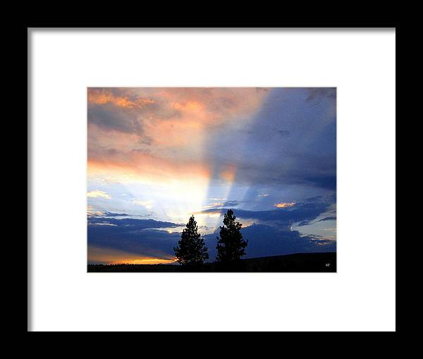 Sky Framed Print featuring the photograph A Riveting Sky by Will Borden