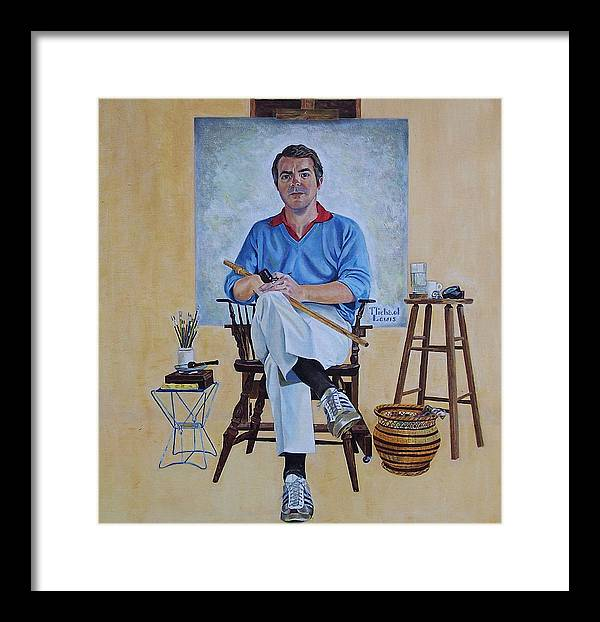 Portraiture Framed Print featuring the painting A Rockwell Tribute by Michael Lewis