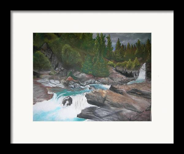 Landscape Framed Print featuring the painting A Rocky Ride by Jack Hampton
