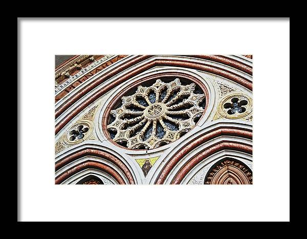 A Framed Print featuring the photograph A Rose Window by HazelPhoto