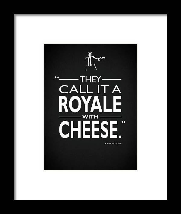Royale With Cheese Framed Print featuring the photograph A Royale With Cheese by Mark Rogan