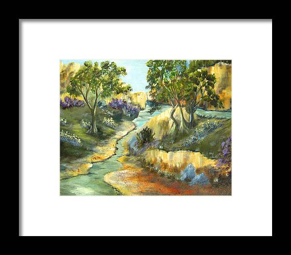 Landscape Framed Print featuring the painting A Sandy Place To Rest by Ruth Palmer