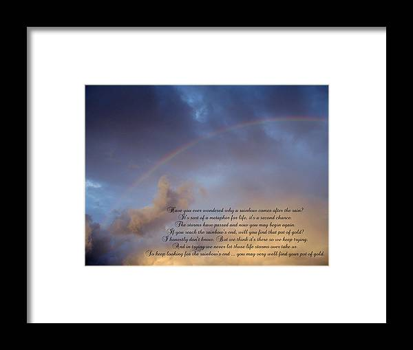 Rainbow Framed Print featuring the photograph A Second Chance by Ginger Howland