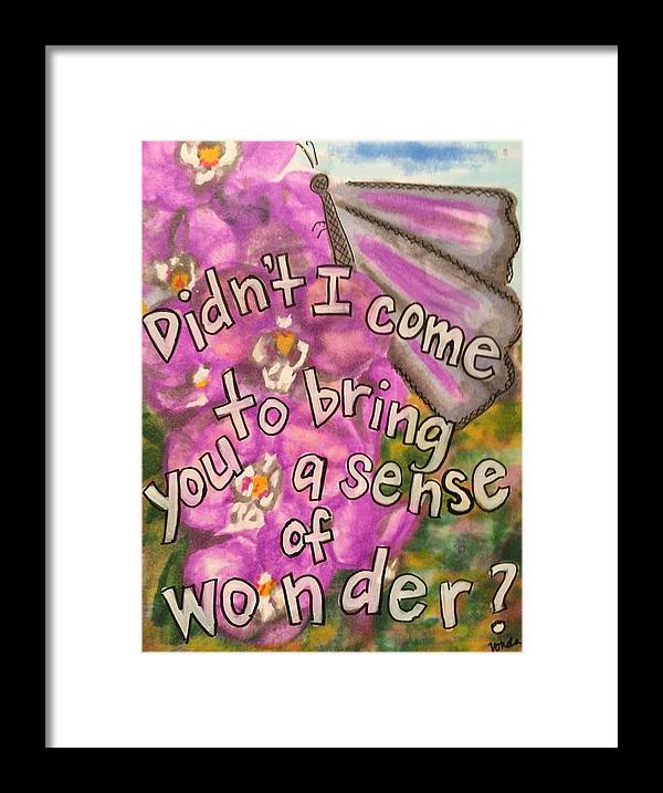 Wonder Framed Print featuring the painting A Sense Of Wonder by Vonda Drees