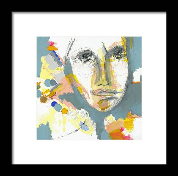Shrewd Woman Framed Print featuring the painting A Shrewd Woman by Danielle Nelisse