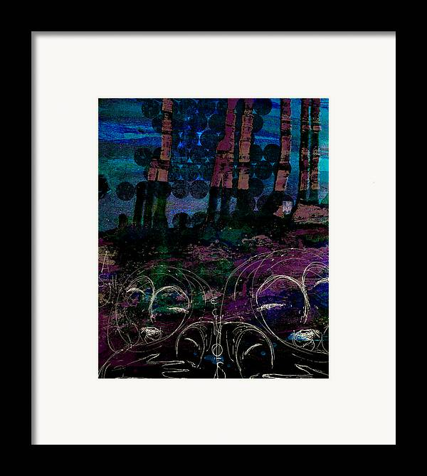 Digital Paintings Framed Print featuring the painting A Small Voice by Mark M Mellon