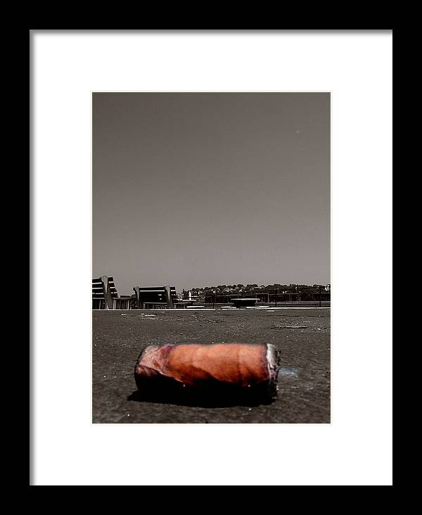 Suffolk Downs Framed Print featuring the photograph A Smoke Before The Race by Heather Weikel