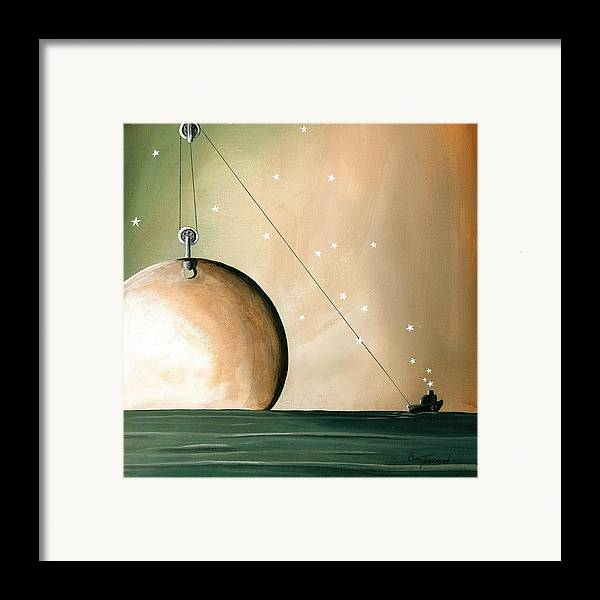 Moon Framed Print featuring the painting A Solar System by Cindy Thornton