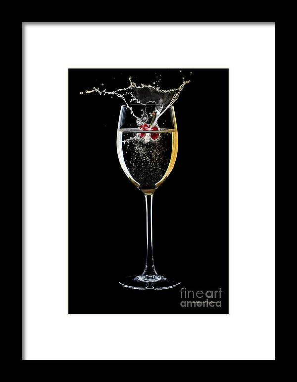 Splash Framed Print featuring the mixed media A Sparkling Splash by Christine Mayfield
