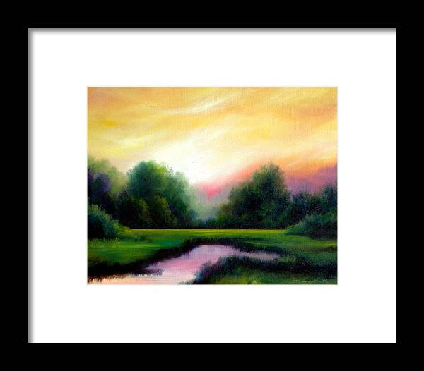 Clouds Framed Print featuring the painting A Spring Evening by James Christopher Hill